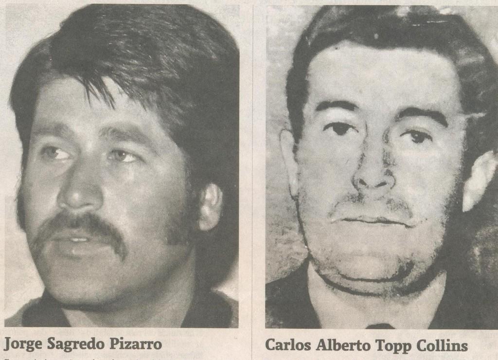 Los culpables Sagredo y Topp Collins