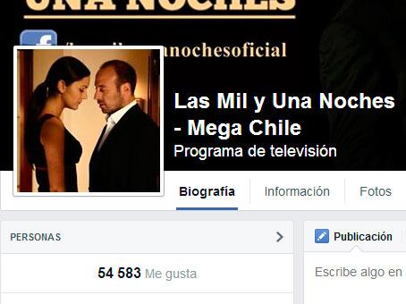 """La página de fans de """"Las mil y una noches"""" tiene más de 54 mil seguidores."""